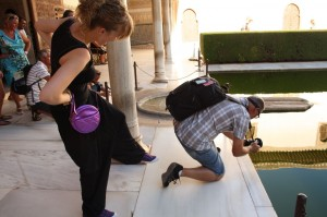 Bruce taking photos at the Alhambra