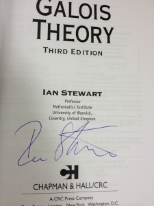 Galois Theory Third Edition, signed by Ian Stewart