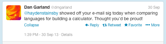 Tweet from @dmgarland