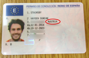 Spanish drivers license - I'm from Austria